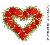 heart form made of fresh... | Shutterstock .eps vector #273453143