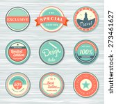 vintage labels template set ... | Shutterstock .eps vector #273461627