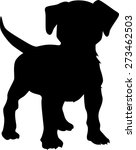 puppy dog silhouette | Shutterstock .eps vector #273462503