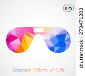 unusual trendy poly aviator... | Shutterstock .eps vector #273471203