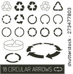 circular arrows in flat clean... | Shutterstock .eps vector #273477803