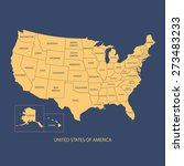 usa map with name of countries... | Shutterstock .eps vector #273483233