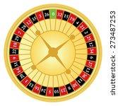 vector illustration of roulette ... | Shutterstock .eps vector #273487253