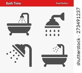 bath time icons. professional ... | Shutterstock .eps vector #273491237