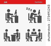 job icons. professional  pixel...