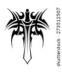 tribal tattoo with knight sword ... | Shutterstock . vector #273512507