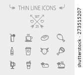 food and drink thin line icon... | Shutterstock .eps vector #273515207