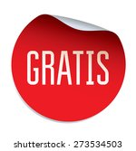 red vector sticker gratis  ...