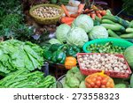 vegetables in the market place... | Shutterstock . vector #273558323