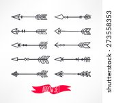 cute set with arrows on a... | Shutterstock .eps vector #273558353