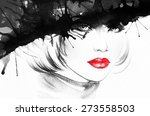 woman portrait .abstract... | Shutterstock . vector #273558503