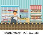 supermarket in flat design. | Shutterstock .eps vector #273569333