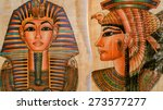 Old Paper With Egyptian Queen...