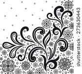black and white decorative... | Shutterstock .eps vector #273630443