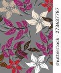 vector seamoles pattern flower...   Shutterstock .eps vector #273637787