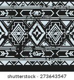 vector ethnic seamless pattern... | Shutterstock .eps vector #273643547