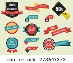 set of vector labels  stickers... | Shutterstock .eps vector #273649373