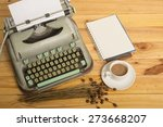 close up of an old typewriter...   Shutterstock . vector #273668207
