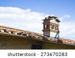 typical brick chimney on a...