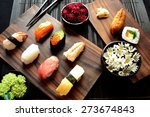 Sushi With Chrysanthemum.image...