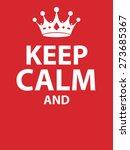keep calm poster | Shutterstock .eps vector #273685367