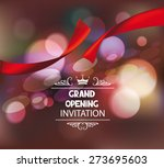 grand opening invitation  card... | Shutterstock .eps vector #273695603