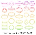 big vector set of line design... | Shutterstock .eps vector #273698627