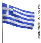 greece flag waving image... | Shutterstock . vector #273727193
