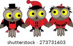 Three Isolated Vector Owls