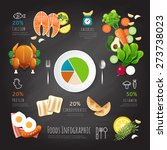 infographic clean food low... | Shutterstock .eps vector #273738023