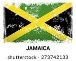 jamaica grunge flag isolated...
