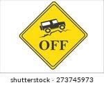 Vintage Old Off Road Sign  ...