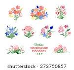 vector watercolor floral... | Shutterstock .eps vector #273750857