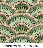vector seamless pattern of hand ... | Shutterstock .eps vector #273758003