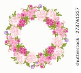 invitation card with floral...   Shutterstock .eps vector #273761327