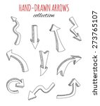 hand drawn arrows collection.... | Shutterstock .eps vector #273765107