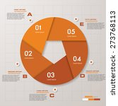 abstract pentagonal infographis ...   Shutterstock .eps vector #273768113
