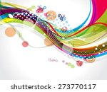colorful wave background with... | Shutterstock .eps vector #273770117