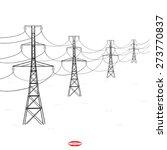 abstract black white silhouette ...   Shutterstock .eps vector #273770837
