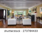 Living Room In Luxury Home Wit...