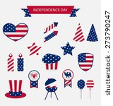icons set usa flag color... | Shutterstock . vector #273790247