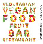 words in vegan style. vector... | Shutterstock .eps vector #273792977
