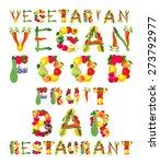 words in vegan style. vector... | Shutterstock .eps vector #273792977