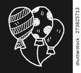doodle balloon | Shutterstock .eps vector #273825713
