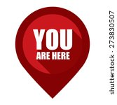 red you are here map pointer... | Shutterstock . vector #273830507