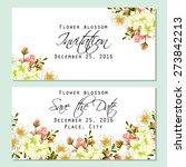 flower blossom. romantic... | Shutterstock .eps vector #273842213