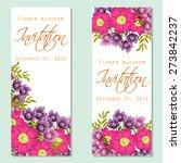 flower blossom. romantic... | Shutterstock .eps vector #273842237
