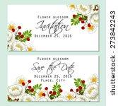 flower blossom. romantic... | Shutterstock .eps vector #273842243