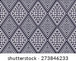 abstract ethnic geometric... | Shutterstock .eps vector #273846233