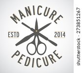manicure and pedicure logo... | Shutterstock .eps vector #273851267